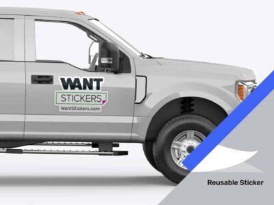 Restickable Aluminum Body Vehicle Sticker