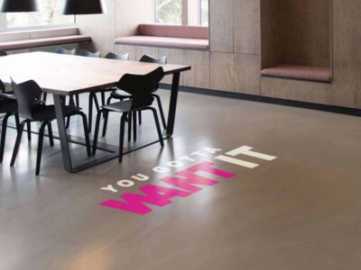 Custom Transfer Floor Decal In Office