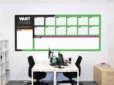 Office Wall Dry Erase Calendar