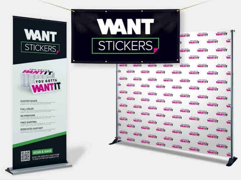 Banner for Event Backdrop Display