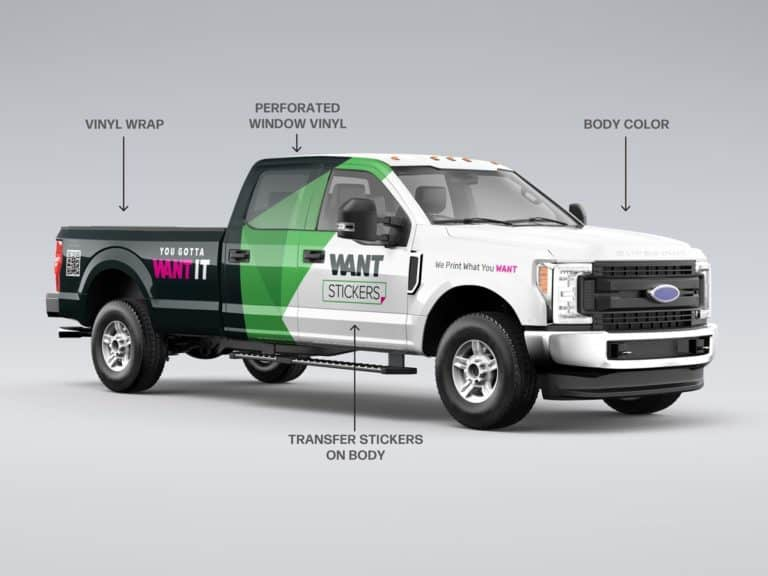 Partial Commercial Truck Wrap Wrap Installed